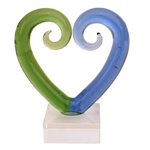 Glass Medium Kissing Koru Twist