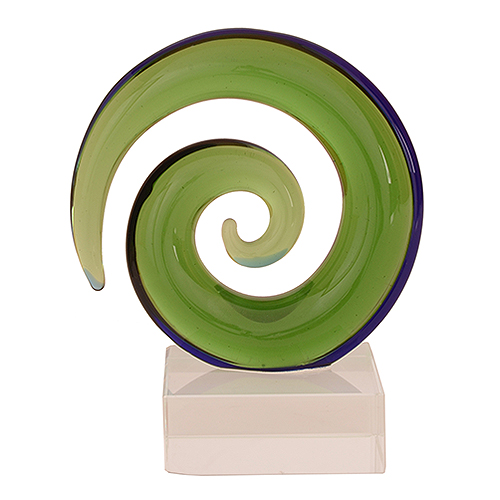 Glass Medium Koru Twist