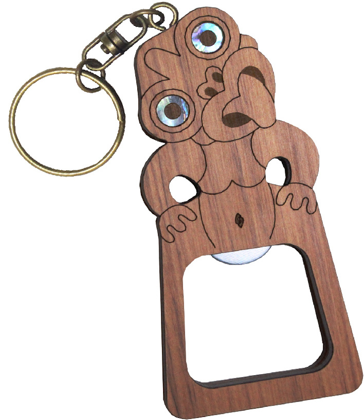 Bottle Opener - Tiki Keychain