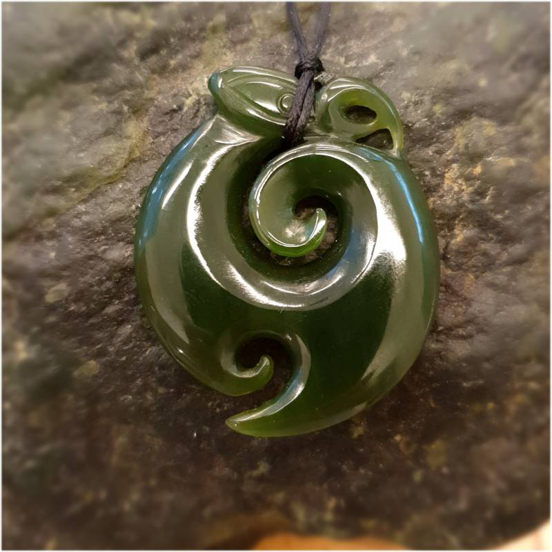 New Zealand Jade Koru Manaia